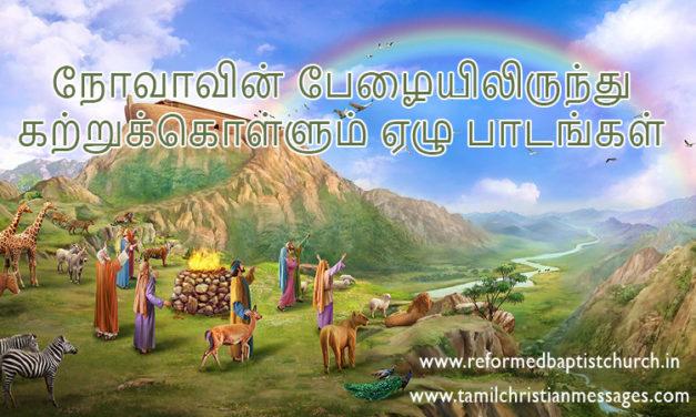 நோவாவின் பேழையிலிருந்து கற்றுக்கொள்ளும் ஏழு பாடங்கள்